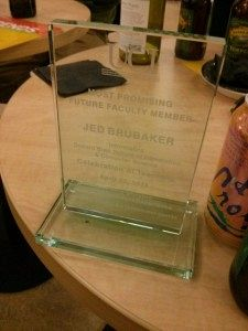 Most Promising Future Faculty Member - Jed Brubaker